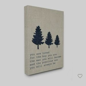 Son You Are Loved Tree Evergreen Wall Canvas NIB